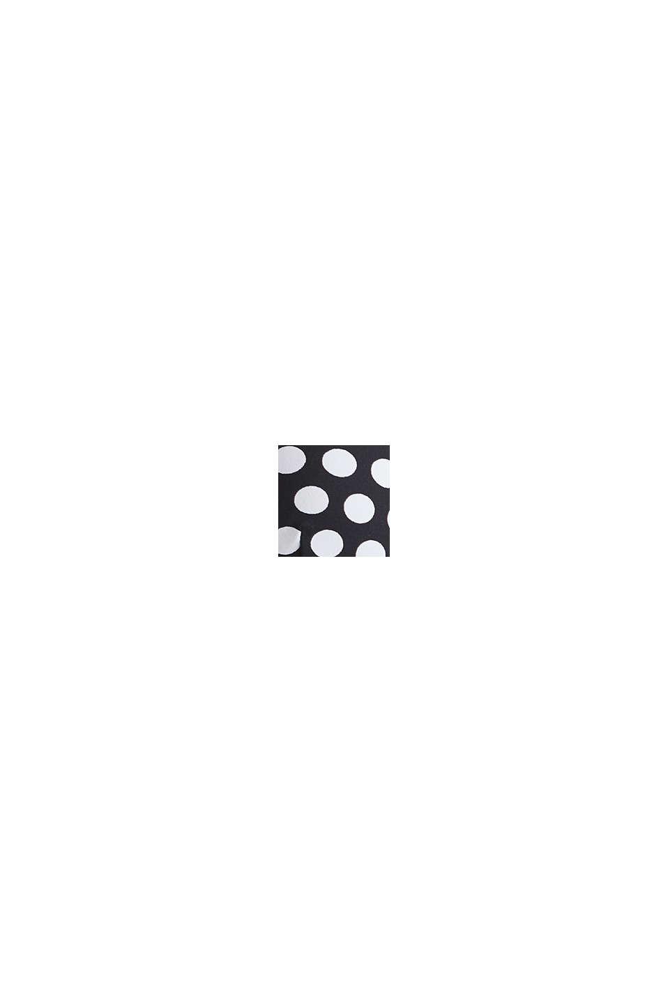 Wattiertes Neckholder-Top mit Tupfen-Print, BLACK, swatch