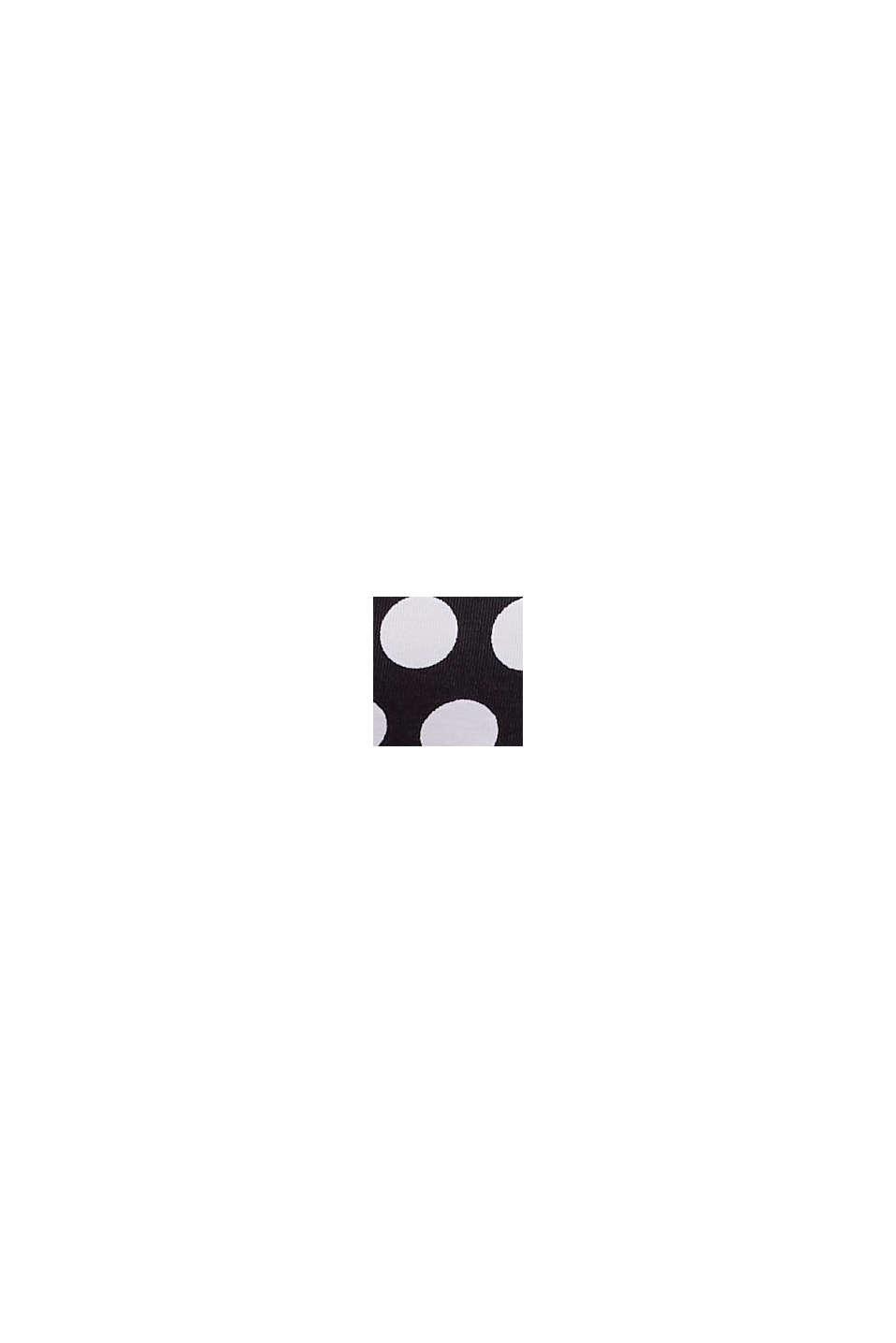 Wattiertes Bandeau-Top mit abnehmbarem Neckholder, BLACK, swatch