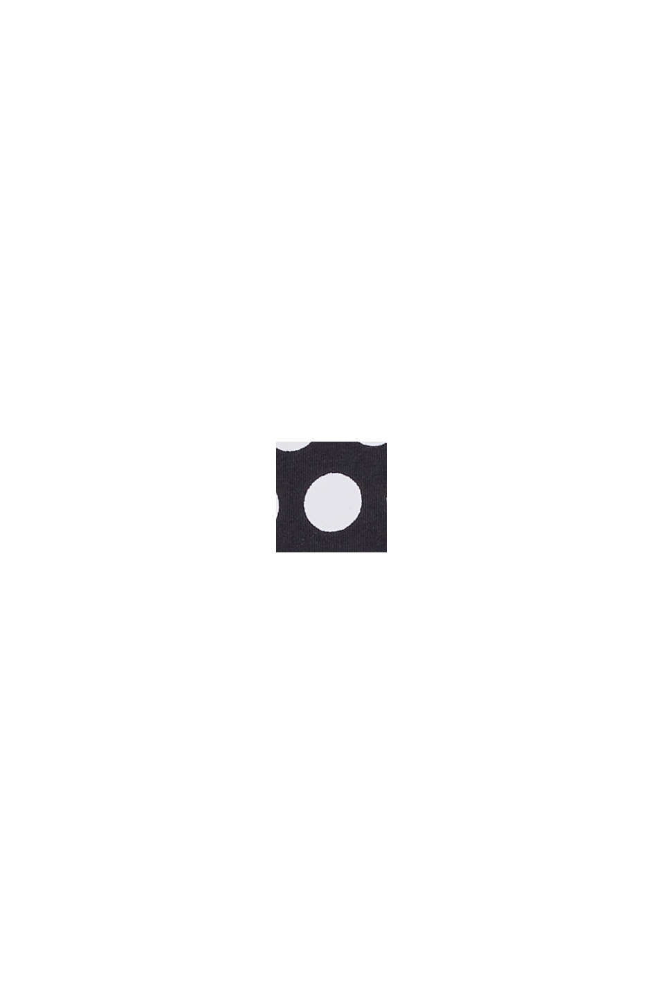 Maillot une pièce rembourré à imprimé à pois, BLACK, swatch