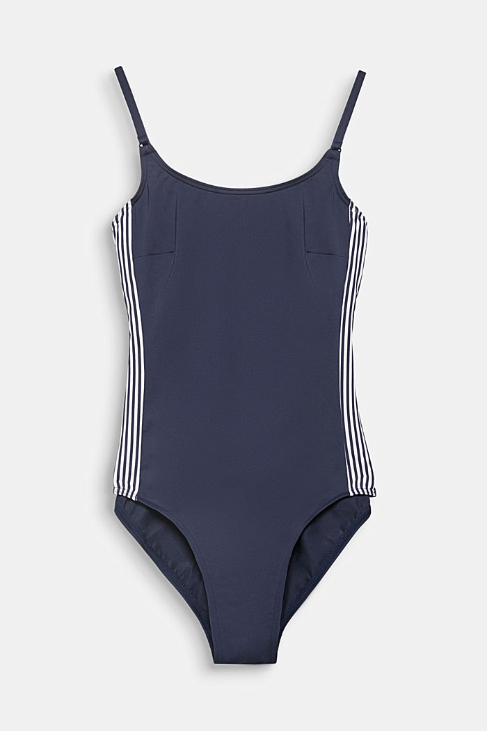 Unpadded swimsuit with concealed underwiring, NAVY, detail image number 0