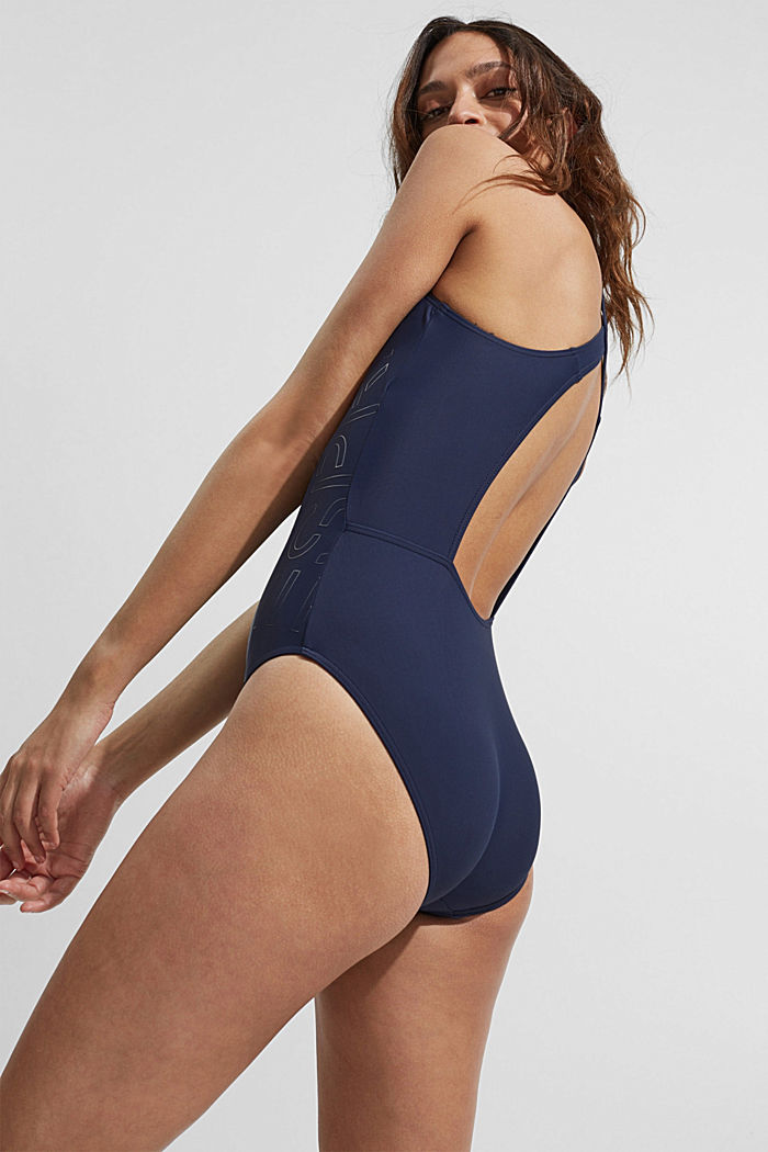 Swimsuit with a tonal logo print, NAVY, detail image number 5