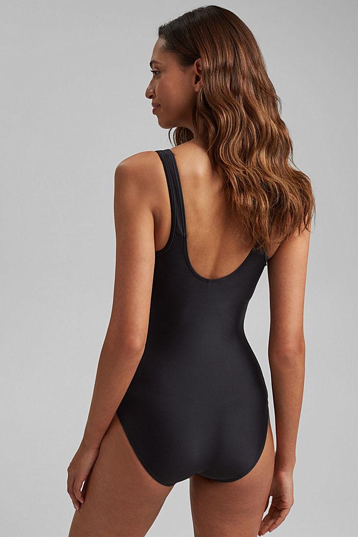 Badeanzug mit verdeckten Bügeln, BLACK, detail image number 1