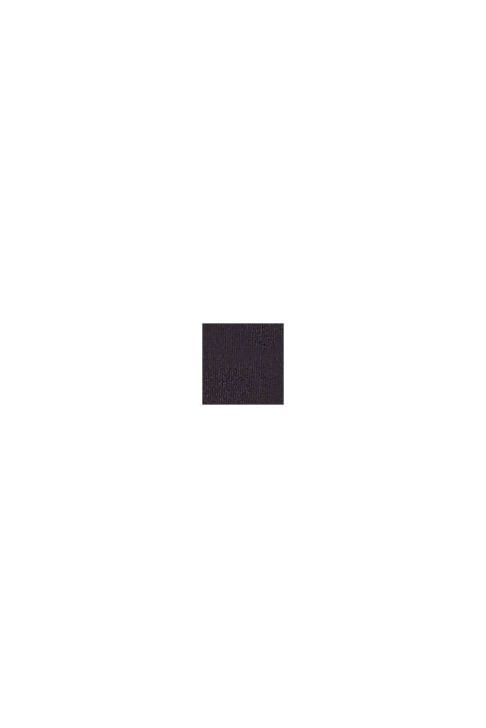 Wattiertes Top mit Logo-Print, BLACK, swatch