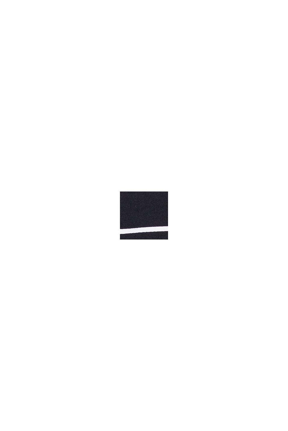 Maillot une pièce rembourré à rayures, BLACK, swatch
