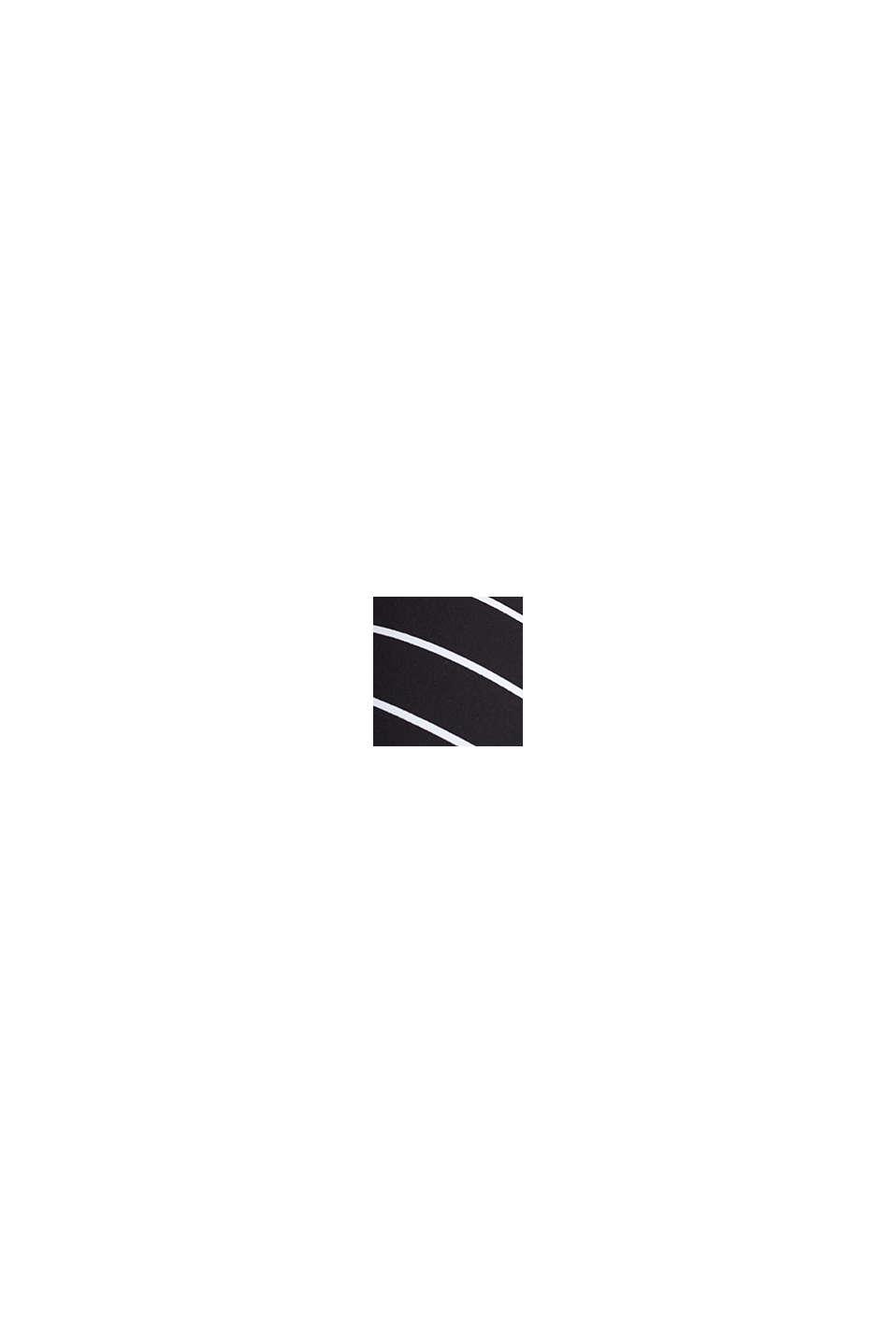 Wattiertes, bügelloses Neckholder-Top, BLACK, swatch