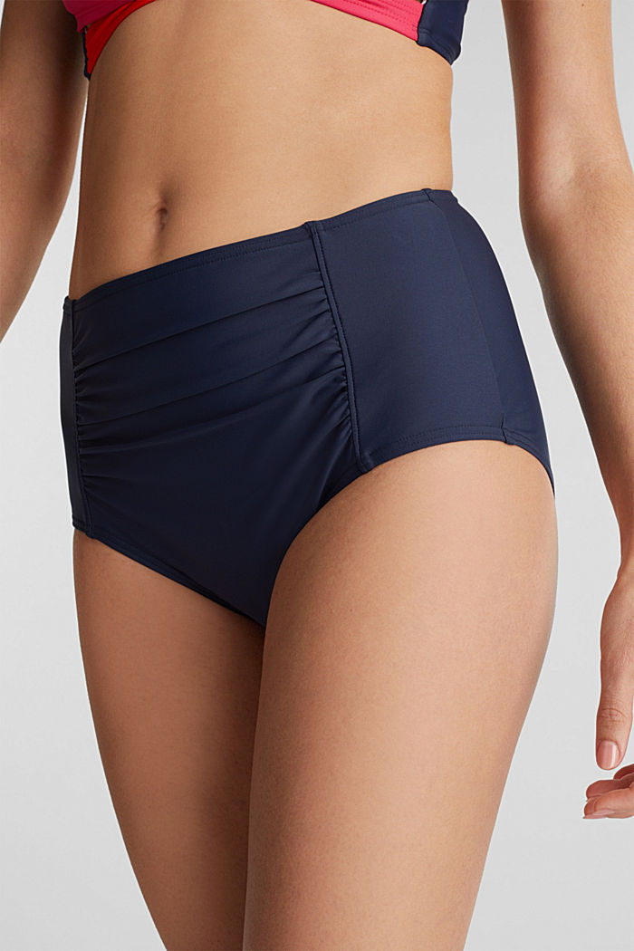 Full briefs with gathers, NAVY, detail image number 1