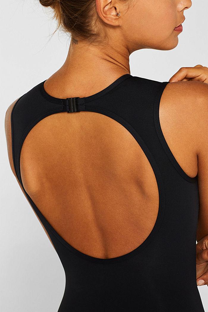 Unwattierter Badeanzug mit Logo-Print, BLACK, detail image number 2