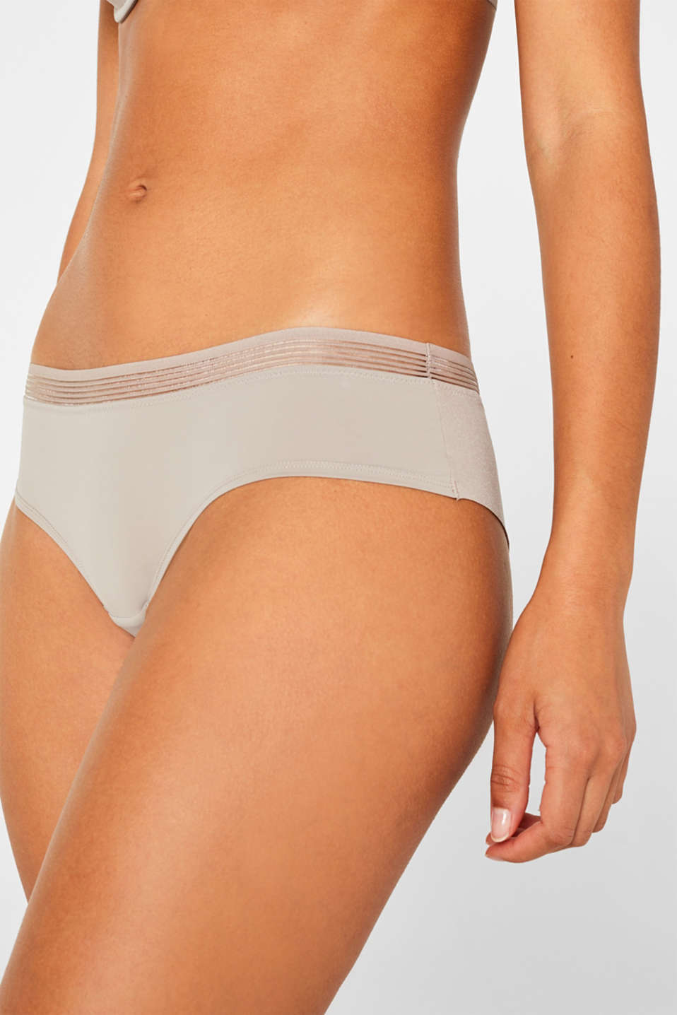 Hipster shorts with seamless leg openings, LIGHT TAUPE, detail image number 1