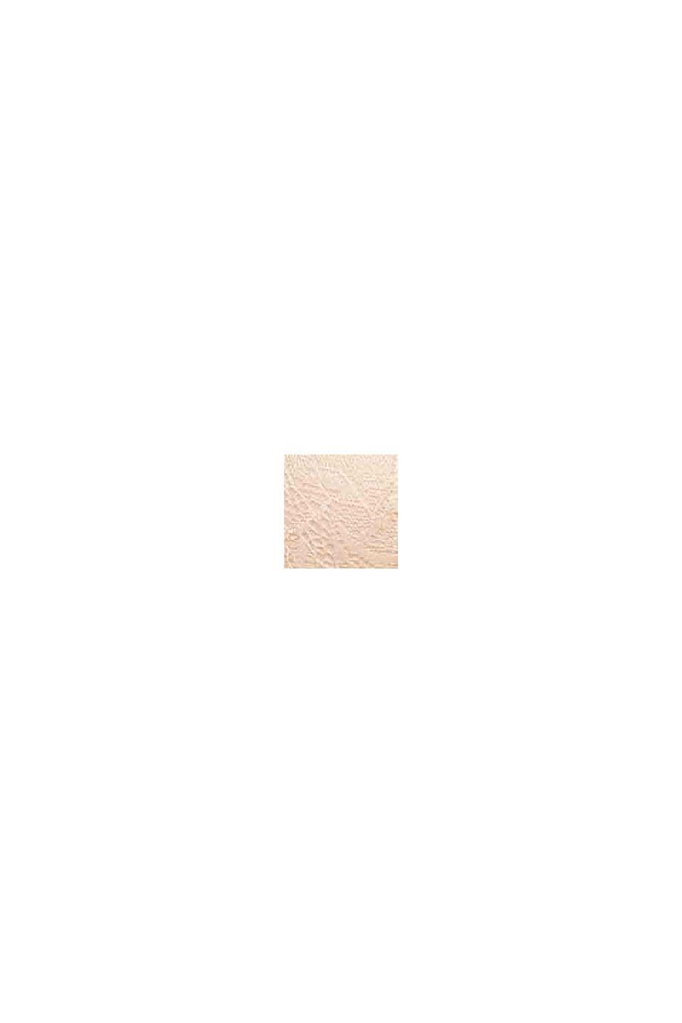 Vatteret bøjle-bh af materialemix, PASTEL ORANGE, swatch