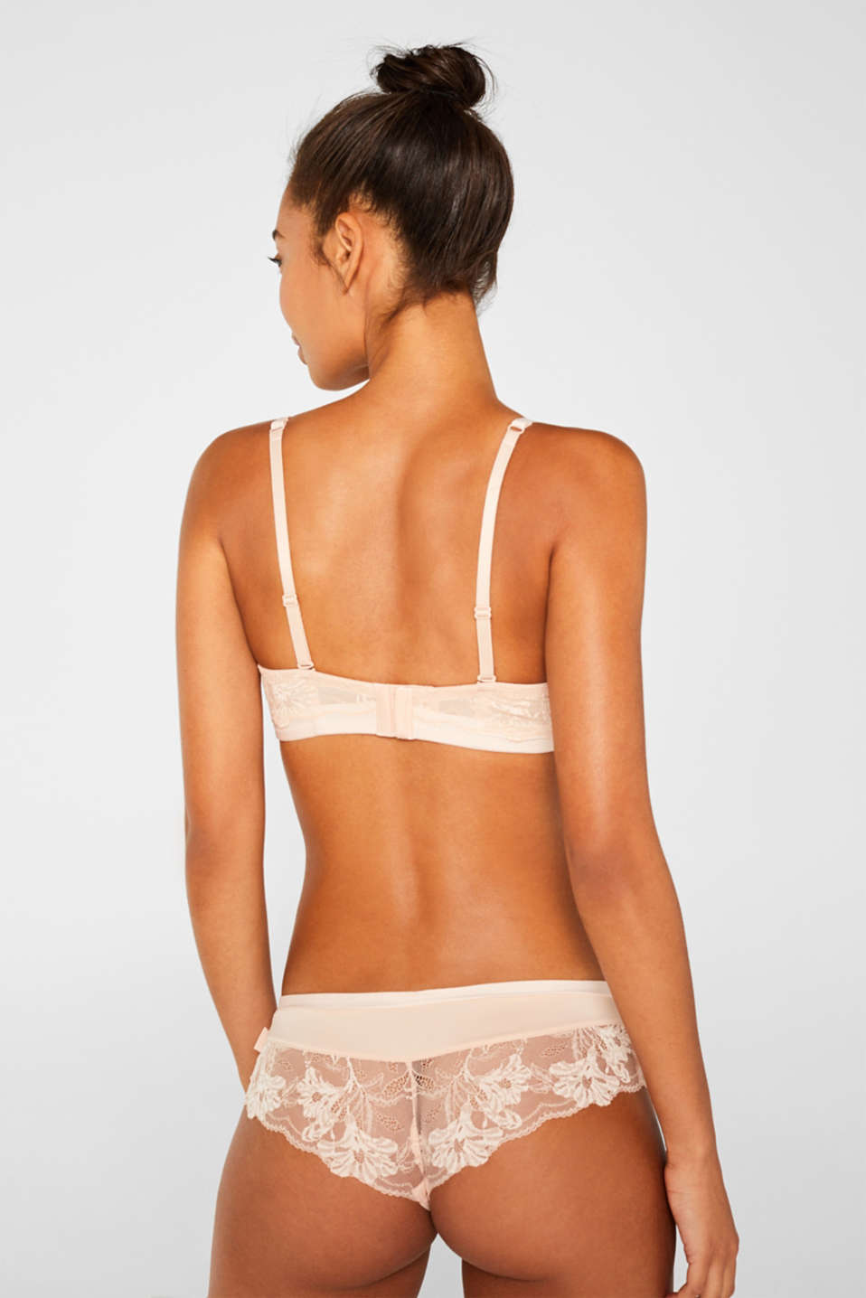 Underwire bra with detachable straps, PASTEL ORANGE, detail image number 1