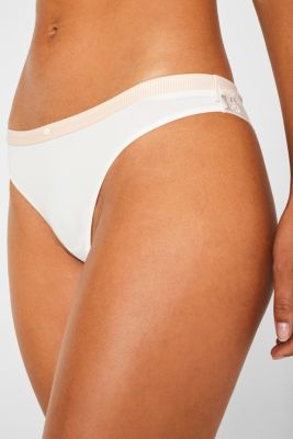 Mixed material hipster briefs, OFF WHITE, detail