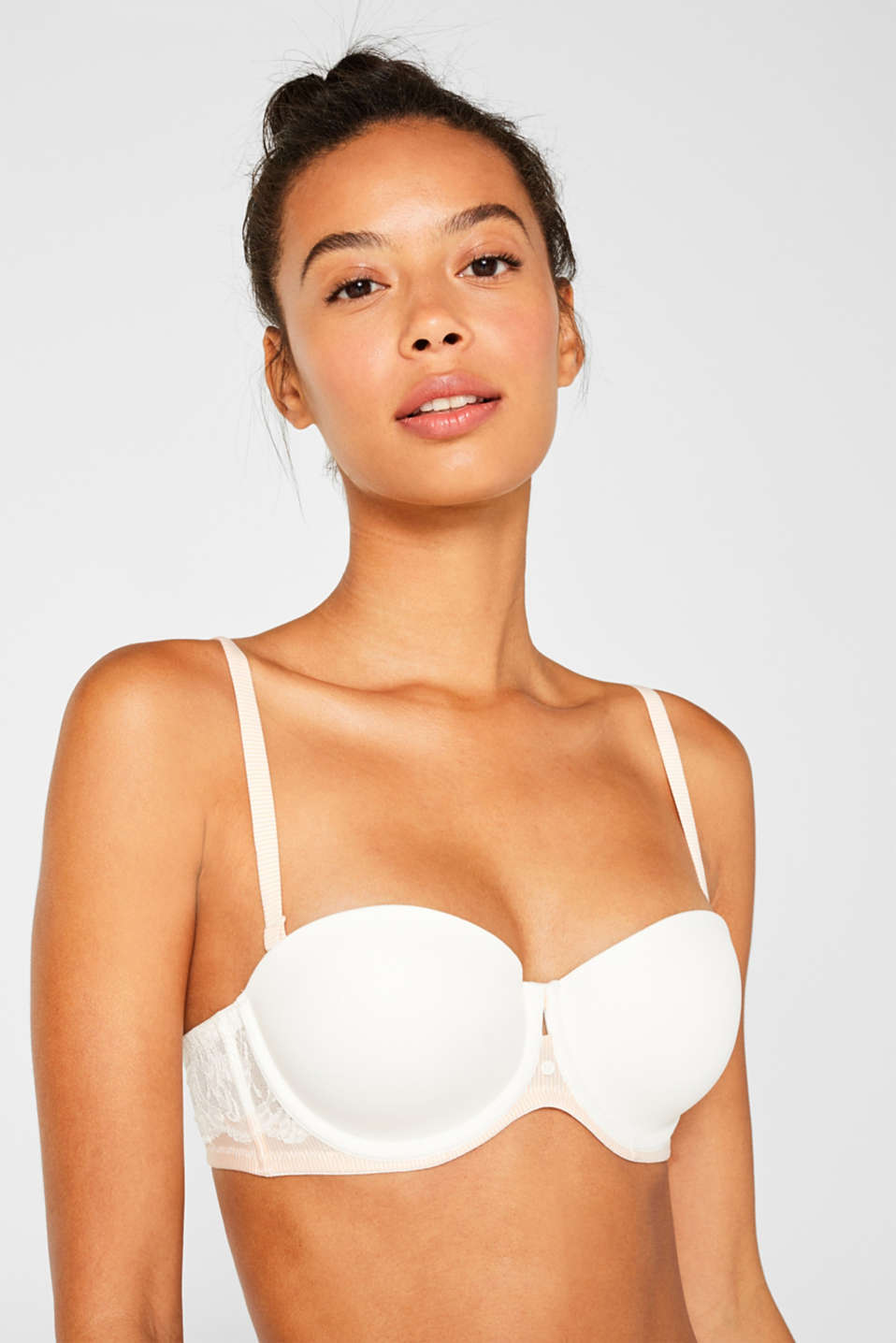 Padded underwire bra with detachable straps, OFF WHITE, detail image number 2