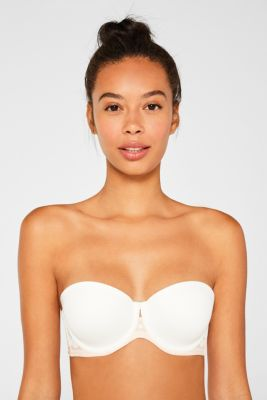 Padded underwire bra with detachable straps, OFF WHITE, detail