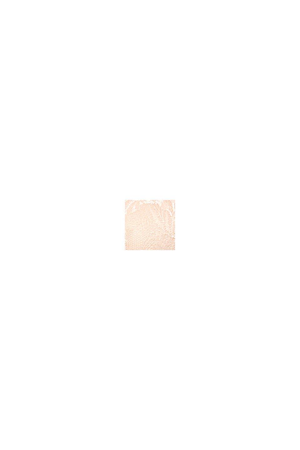 Vatteret bøjle-bh af blondestof til store skålstørrelser, PASTEL ORANGE, swatch