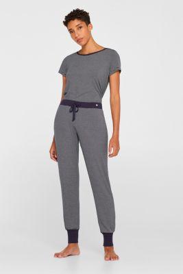 NAVY mix + match jersey trousers, NAVY, detail