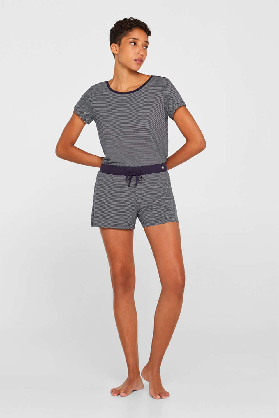 Esprit - NAVY Mix + match shorts