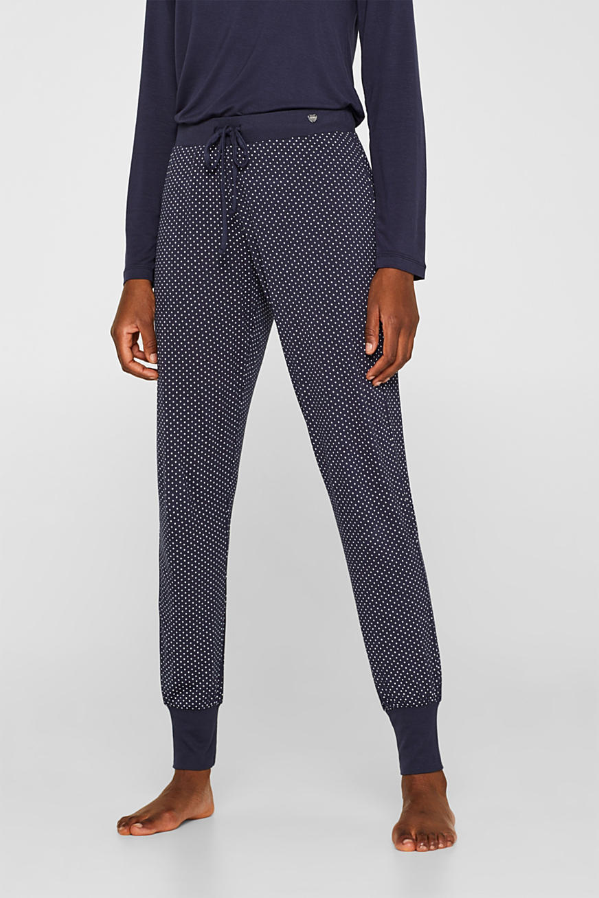 NAVY mix + match jersey trousers