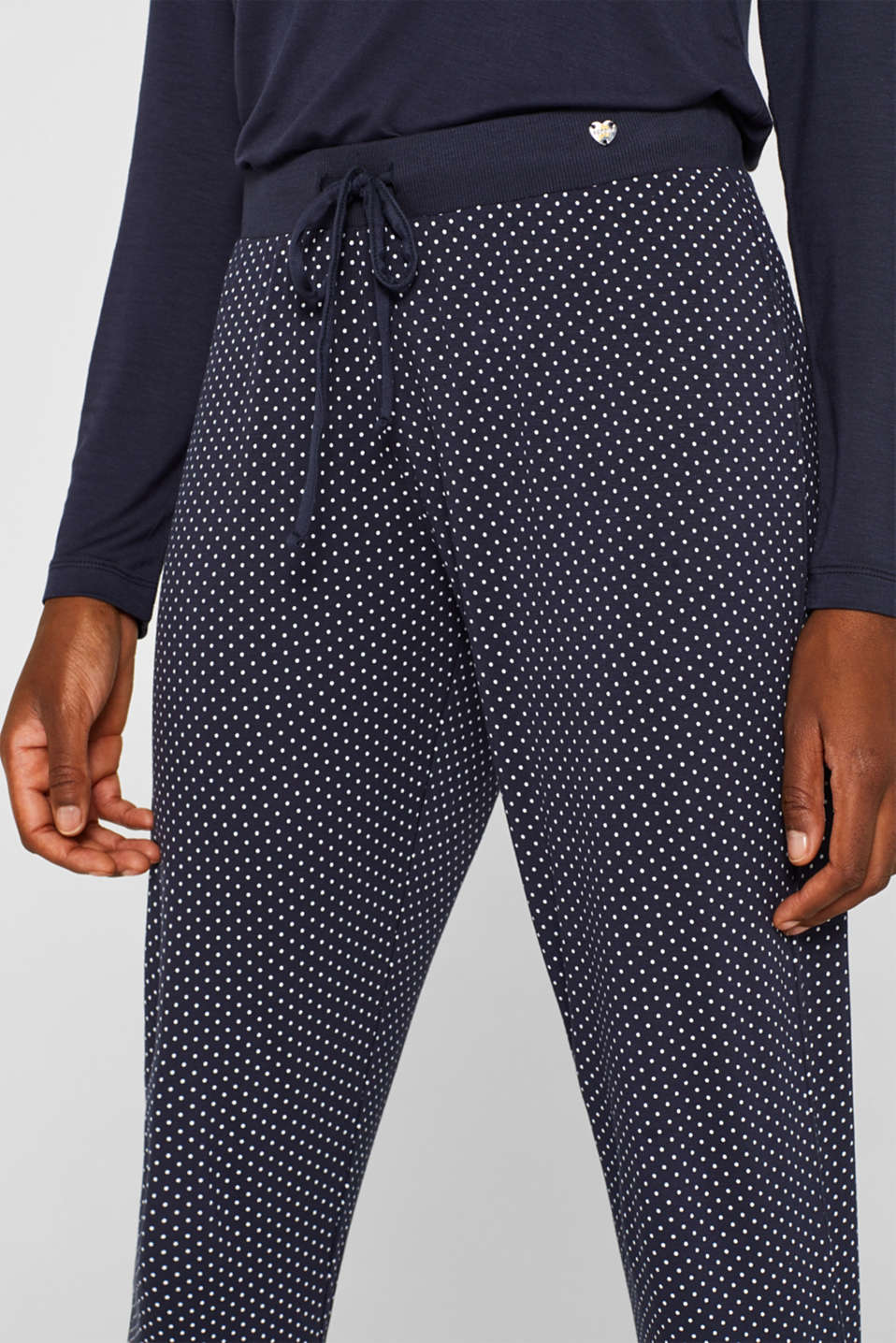 NAVY mix + match stretch jersey trousers, NAVY, detail image number 2