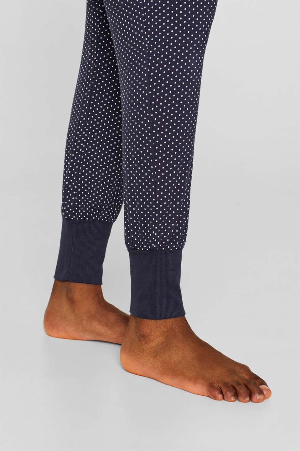 NAVY mix + match stretch jersey trousers, NAVY, detail image number 5