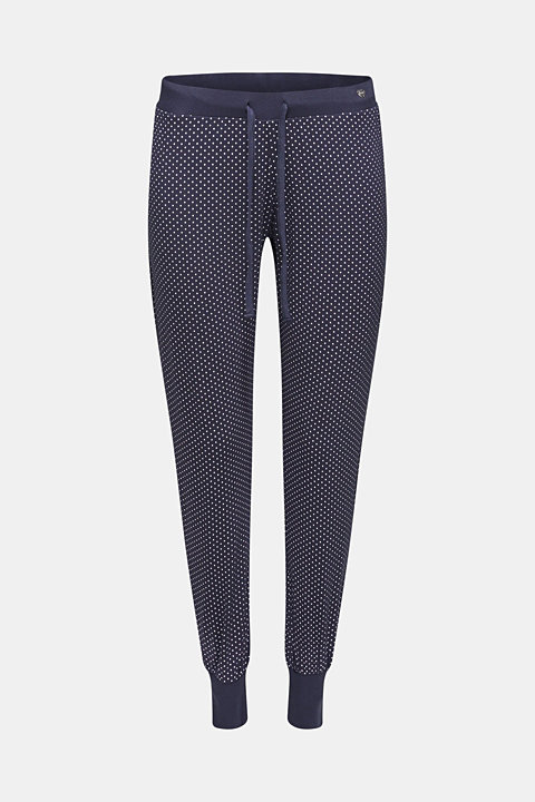 NAVY mix + match stretch jersey trousers