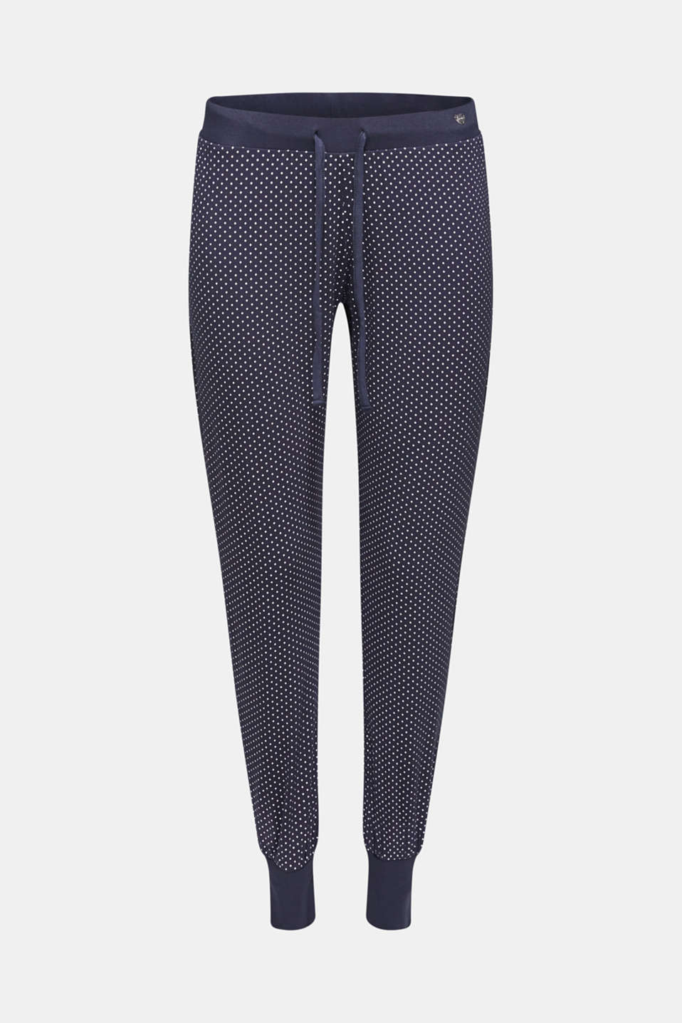 NAVY mix + match stretch jersey trousers, NAVY, detail image number 6