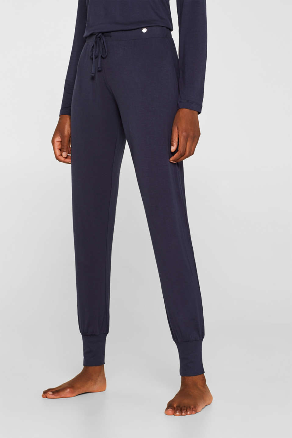 Esprit - Pantalon en jersey stretch Mix + Match NAVY