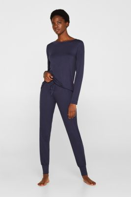 NAVY mix + match jersey trousers, NAVY, detail
