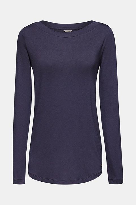 NAVY mix + match stretch long sleeve top