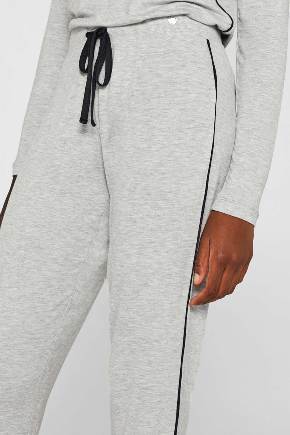 MELANGE mix + match stretch jersey trousers, LIGHT GREY, detail image number 2
