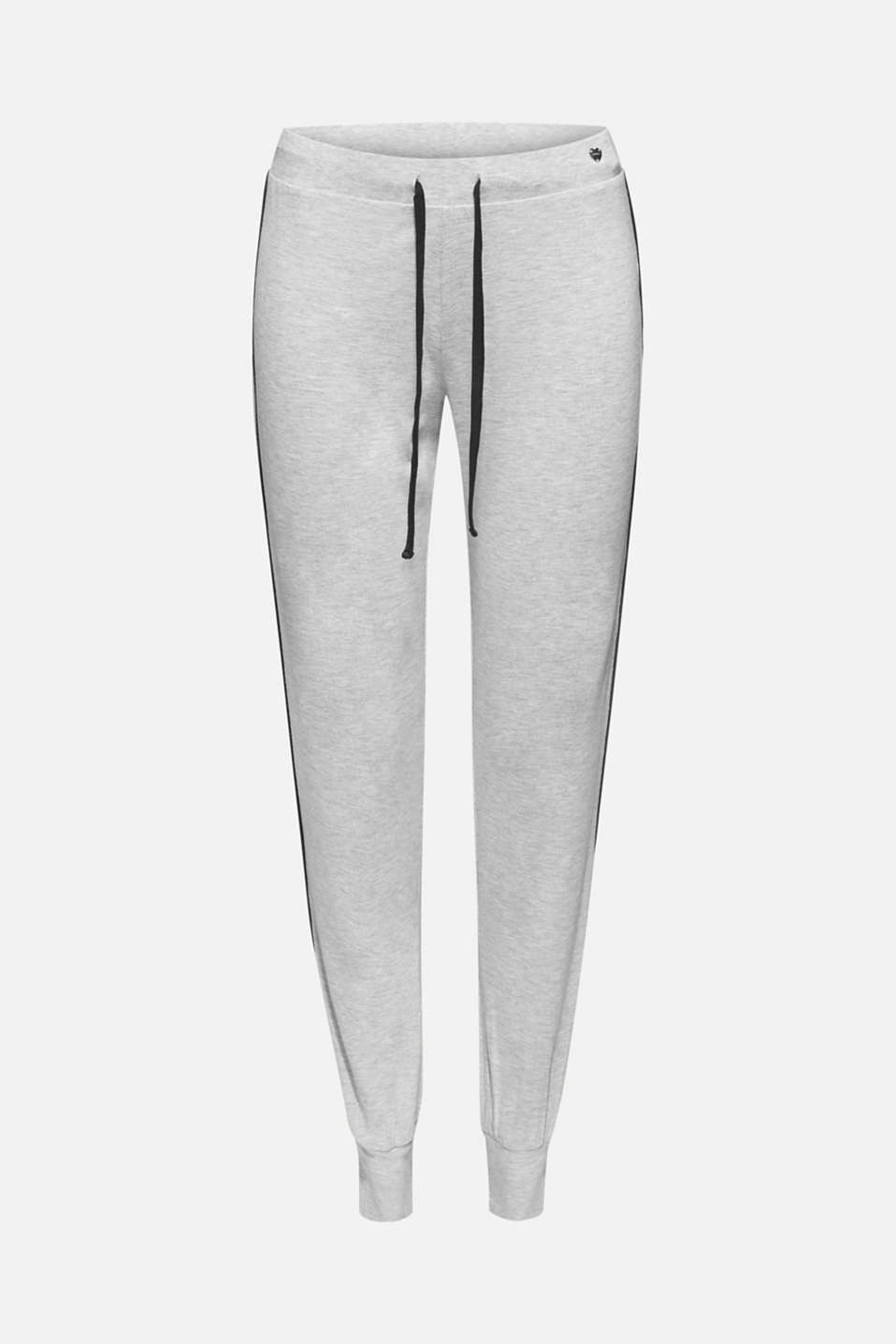 MELANGE mix + match stretch jersey trousers, LIGHT GREY, detail image number 5