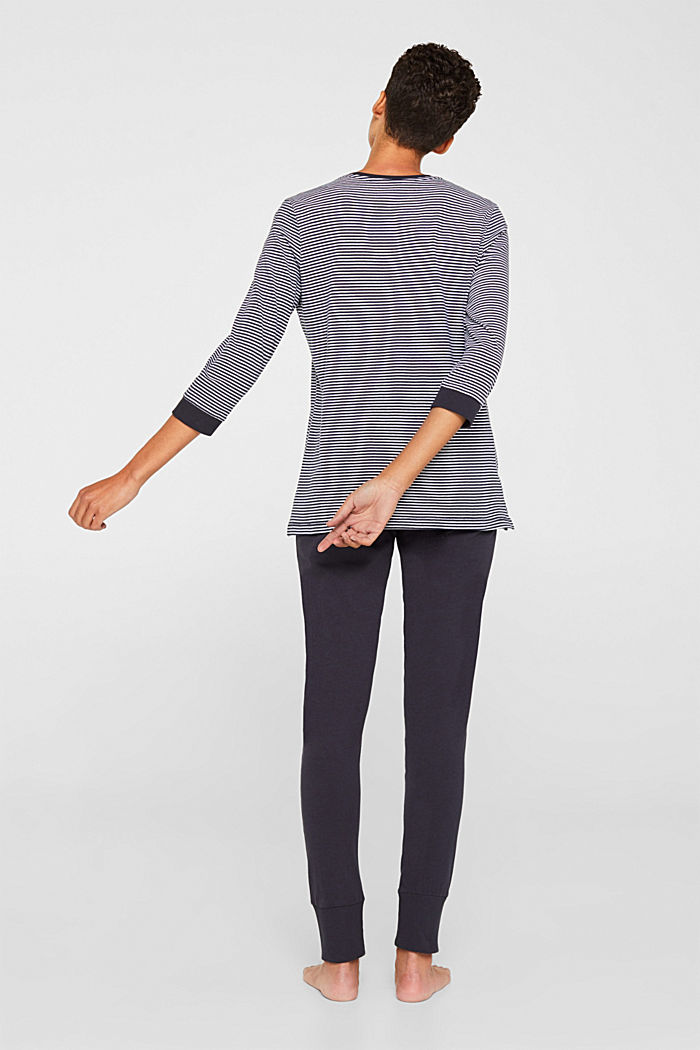 Jersey pyjamas in 100% cotton, NAVY, detail image number 1