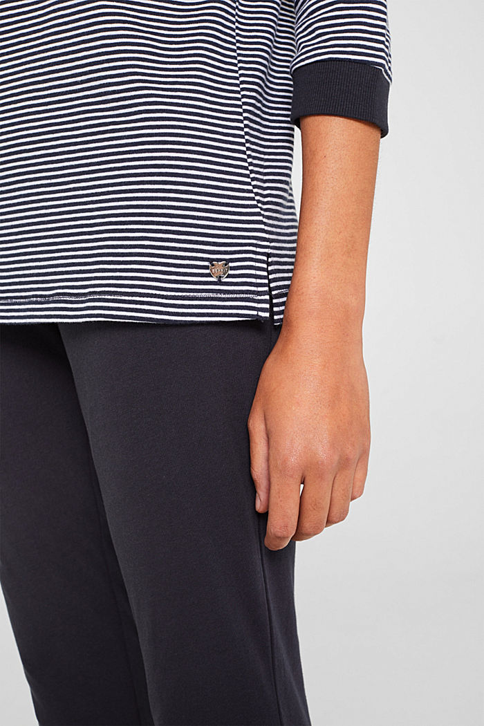 Jersey pyjamas in 100% cotton, NAVY, detail image number 3