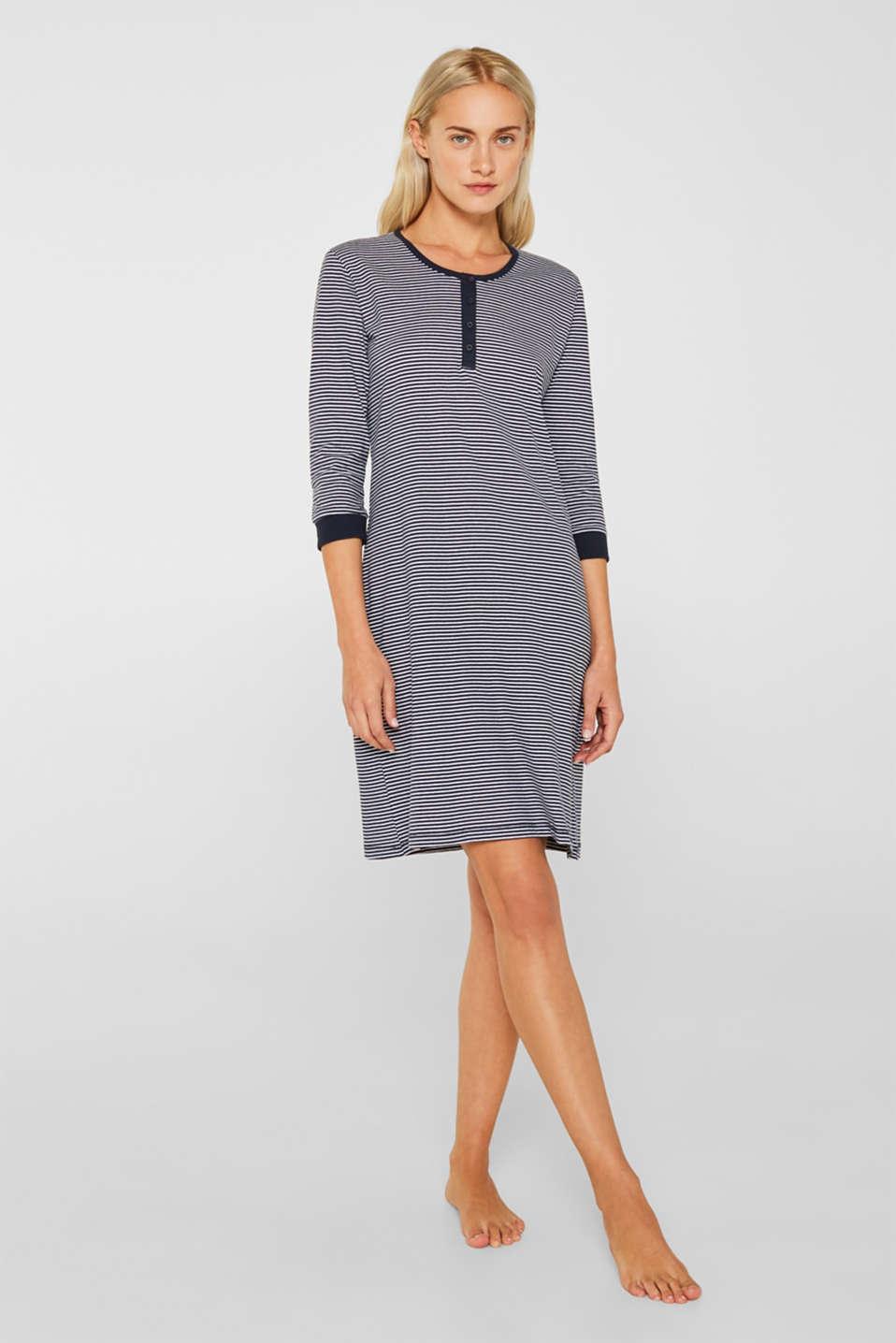 NAVY mix + match nightshirt, 100% cotton, NAVY, detail image number 1
