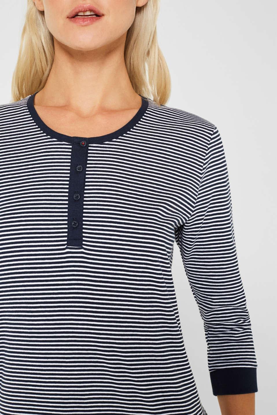 NAVY mix + match nightshirt, 100% cotton, NAVY, detail image number 3