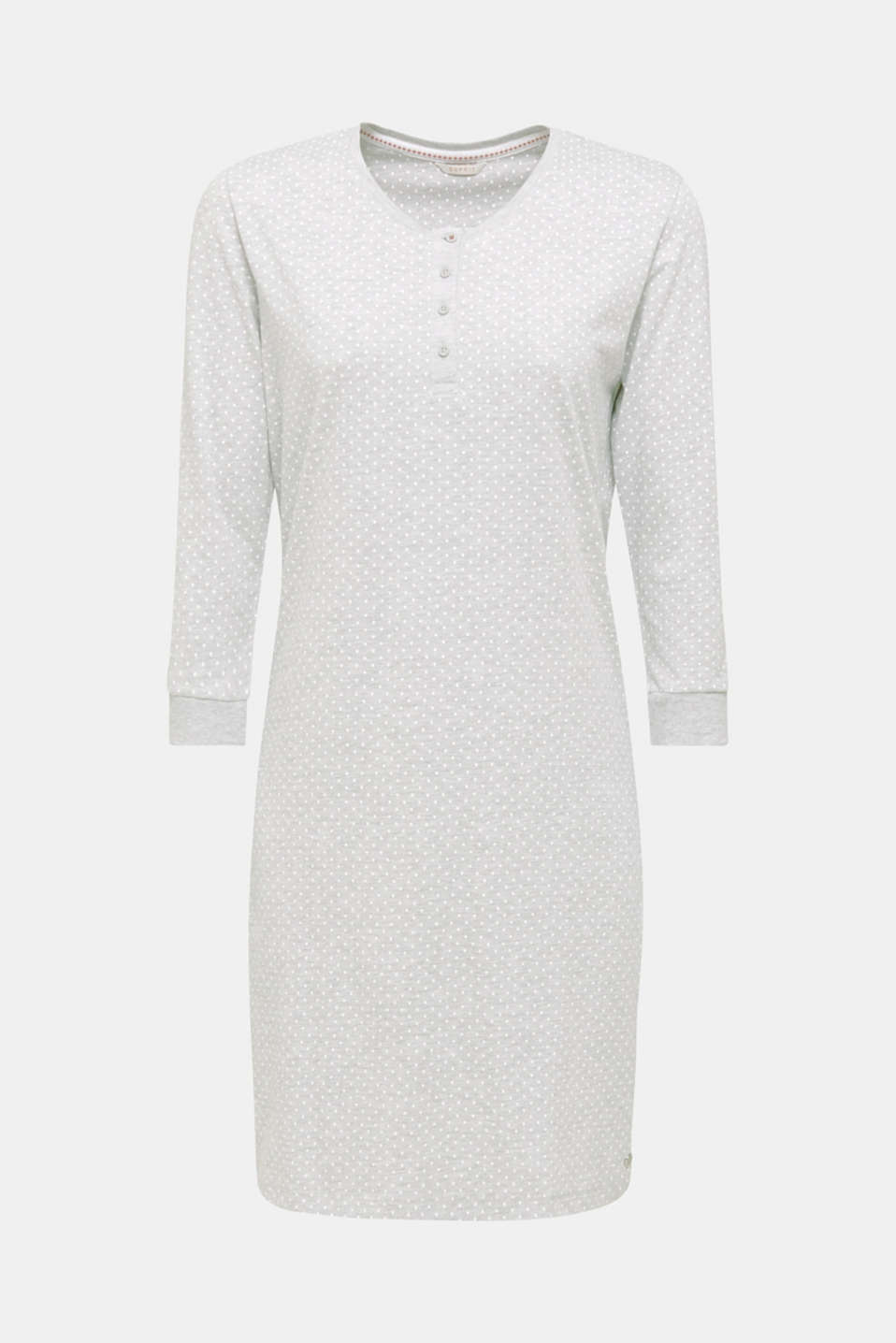 MODERN COTTON mix + match nightshirt, LIGHT GREY, detail image number 6