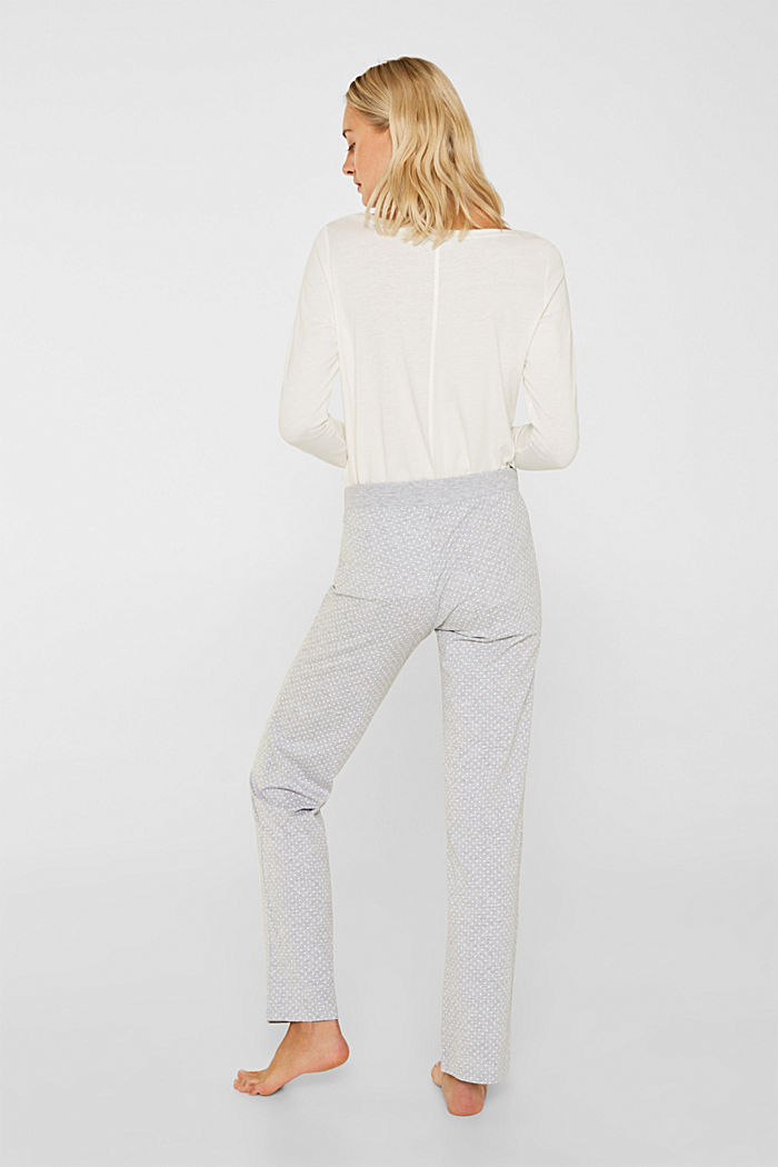 MODERN COTTON mix + match trousers, LIGHT GREY, detail image number 3