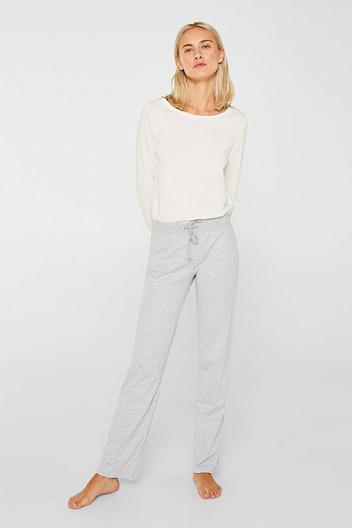 MODERN COTTON mix + match trousers, LIGHT GREY, detail image number 1