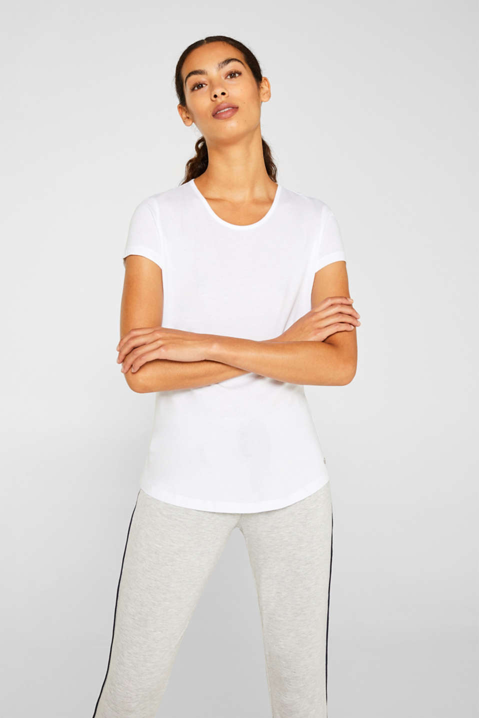 LIGHT GREY mix + match top, WHITE, detail image number 1