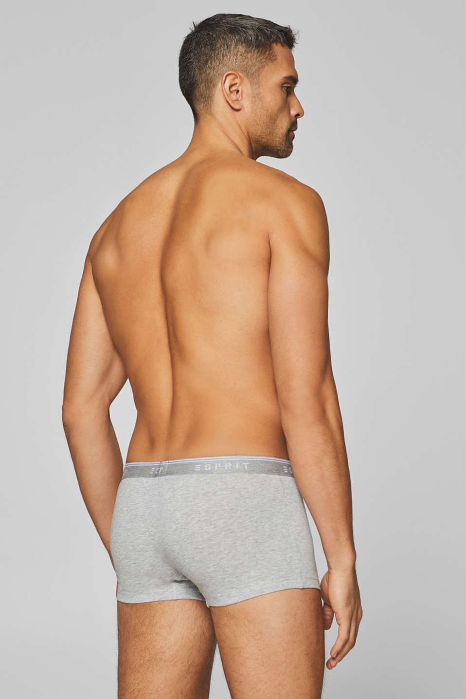 Stretch cotton hipster shorts, LIGHT GREY, detail image number 1