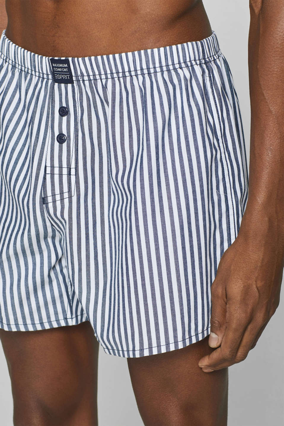 Woven shorts in a double pack, 100% cotton, NAVY, detail image number 2