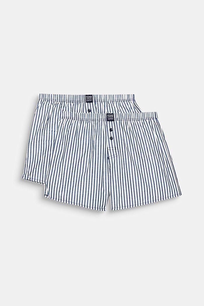Set van 2 geweven shorts, 100% katoen, NAVY, detail image number 0