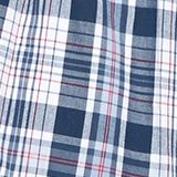 Checked woven shorts in a double pack, 100% cotton, NAVY, swatch