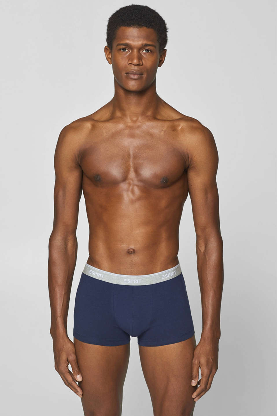 Esprit - Hipster shorts made of stretch jersey in a triple pack
