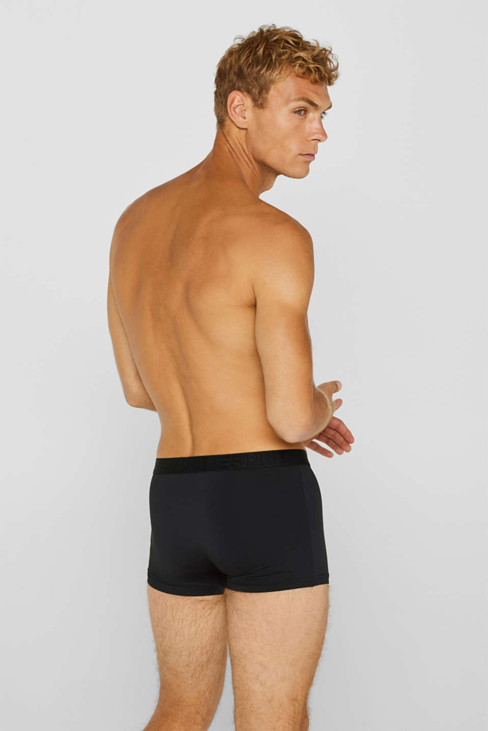Triple pack of hipster shorts with a contrasting waistband, BLACK, detail image number 1