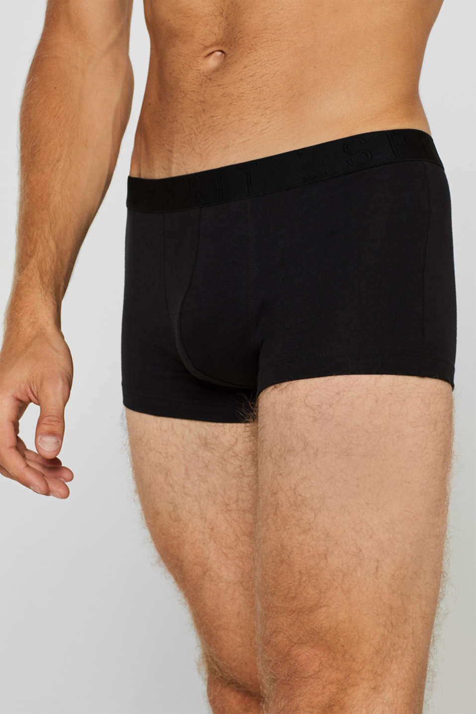 Triple pack of hipster shorts with a contrasting waistband, BLACK, detail image number 2