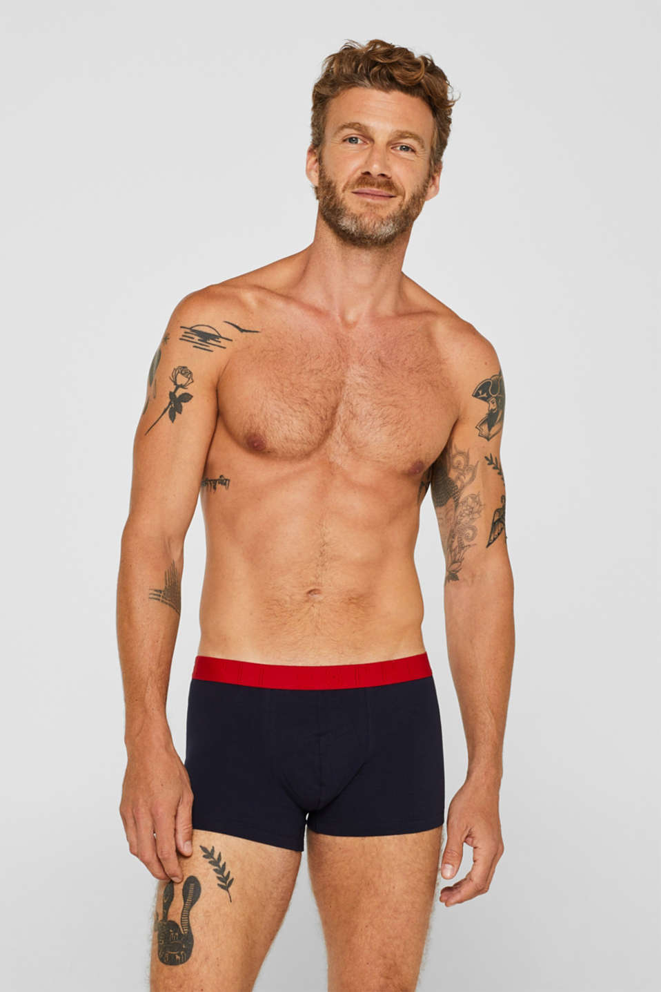 Triple pack of hipster shorts with a contrasting waistband, NAVY, detail image number 0