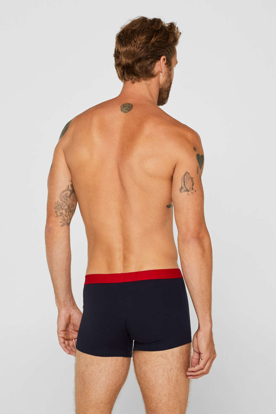 Triple pack of hipster shorts with a contrasting waistband, NAVY, detail image number 1