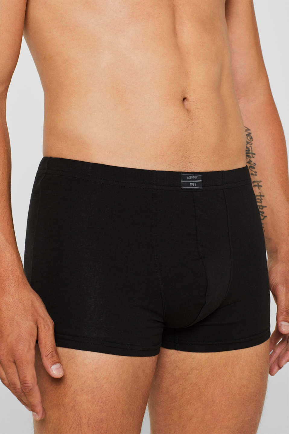 Stretch cotton hipster shorts in a triple pack, BLACK, detail image number 2