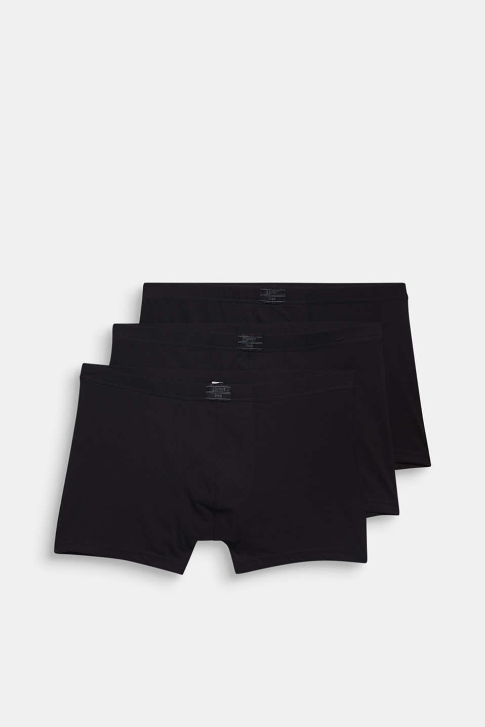 Stretch cotton hipster shorts in a triple pack, BLACK, detail image number 3