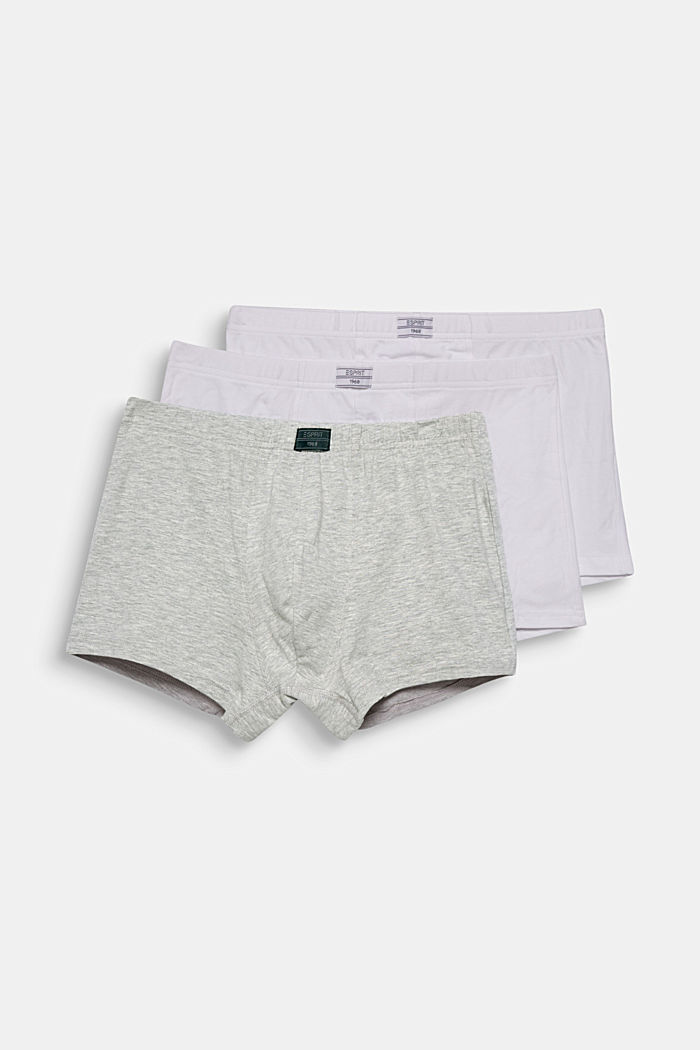3er-Pack Hipster-Shorts aus Baumwoll-Stretch, WHITE, overview